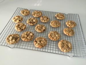 espresso choc chip cookies