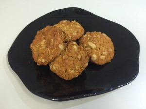 macadamia ginger anzac biscuits