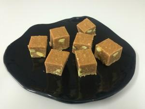 caramel drambuie pistachio fudge