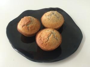 blue cornbread muffins
